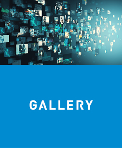 Creative digital picture gallery. Media and communication concept